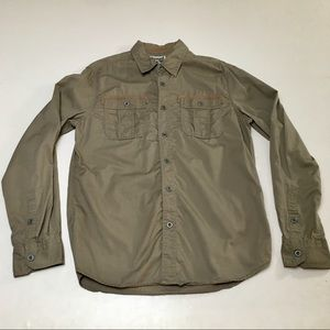 Converse One Star Khaki LS Shirt New Tags Army